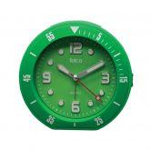 Αθόρυβο αναλογικό ρολόι με rubber Πράσινο 2809